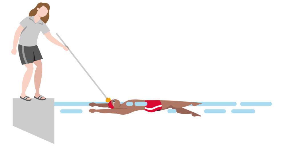 Schwimmen Hinweise für Blinde